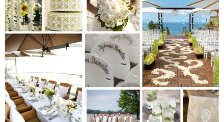 Beach or yacht club wedding